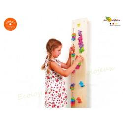 Jeu en bois crèche Erzi Jeu de manipulation Mur Fantômes 42265 Adresse équilibre motricité coordination concentration