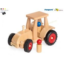 Jouet bois fagus Tracteur Bois Fagus et sa remorque Jouet waldorf