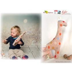 Doudou Bio girafe Efie Cadeau naissance naturel Jouet bébé bio Peluche 88089KbA