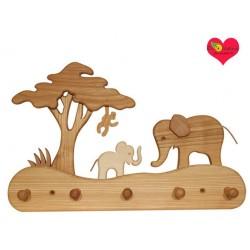 Portemanteau en bois  Eléphant