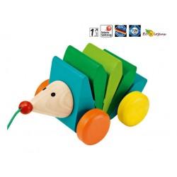 jouet bois à pousser  Selecta Hérisson Kasper jouet pour la marche 1 an 18 mois 24 mois Jouet Selecta Bois