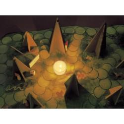 jeu coopératif coopération Ombres lumière noir forêt arbre