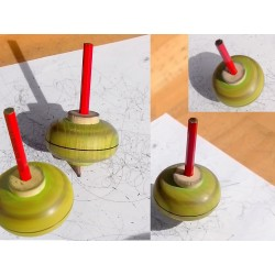 Toupie qui dessine Wooden Spinning Top Drawing Toupies Mader