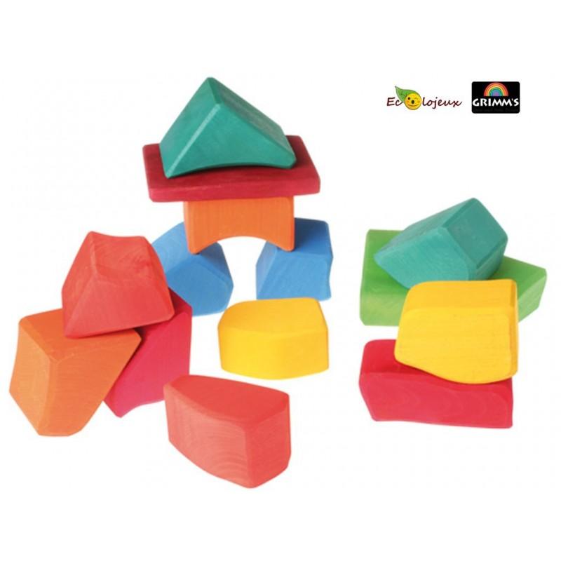 jouet cubes bois Jouet bloc waldorf grimm's jeu construction Grimm's 10010