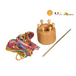 Tricotin large avec fil de coton