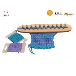 APPRENDRE LE TRICOT ENFANTS Machine à tricoter manuelle en bois