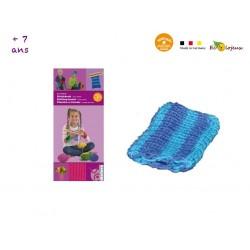 APPRENDRE LE TRICOT ENFANTS Machine à tricoter manuelle en bois JOUET BOIS ECOLO EDUCATIF Activité manuelle WAldorf