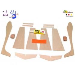 Fabriquer un avion - Kit 2 planeurs en bois