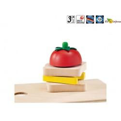Dinette scratch velcro Légumes en bois à couper Selecta Jouet Bois imitation Waldorf Montessori NAturel