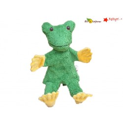 Marionnette à main Grenouille tissu MARIONNETTE COTON BIO Cadeau naissance naturel bio écolo
