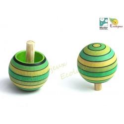 Toupie en bois Magique rayée TOUPIE BOIS CHAMPIGNON Jouet Toupies collectionneurs Wooden spinning top
