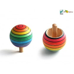 Toupie en bois Magique Arc en Ciel Toupies Mader WOODEN SPINNING TOP