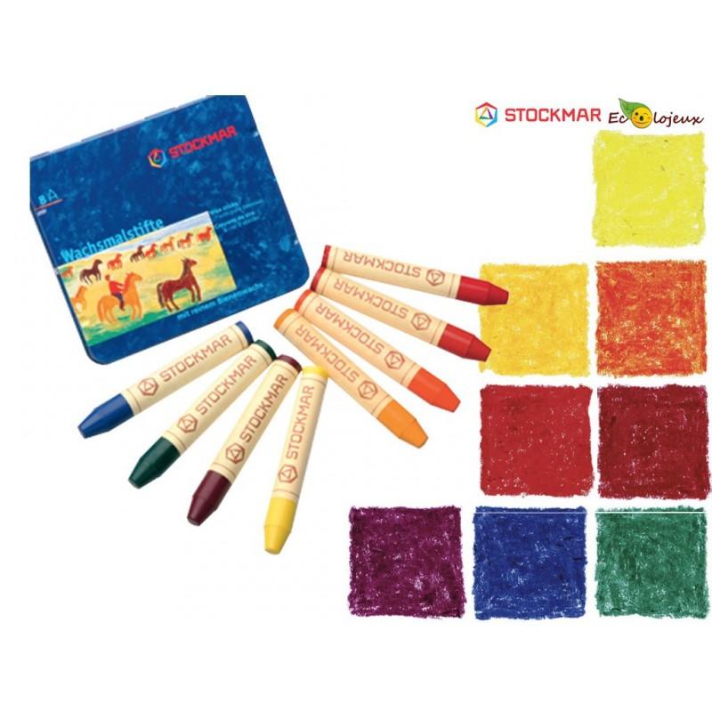 Crayons cire Stockmar 8 couleurs de base
