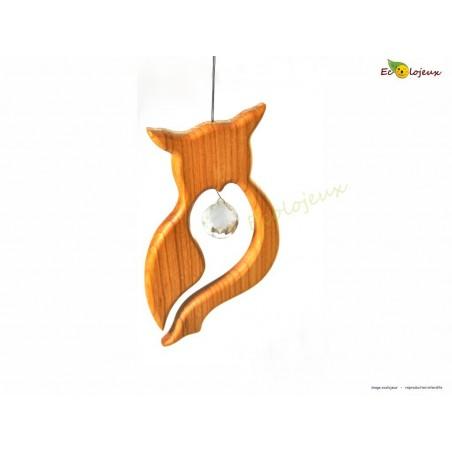 Mobile Chouette en bois et cristal Swarovski