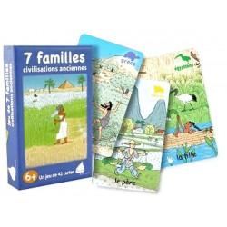 Jeu Nature Betula Exbrayat éditions Jeu 7 familles Civilisations