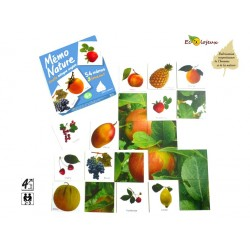 Jeu nature Mémo Nature Fruits Bilingue Anglais Apprendre Langues Editions Bétula Exbrayat
