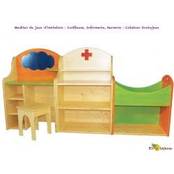 Mobilier enfant Création Ecolojeux COIFFEUSE NURSERIE