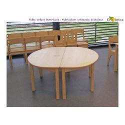 Table enfant bois Demi Lune Création Ecolojeux