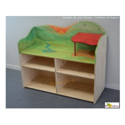 Meuble de jeux Ferme en bois Création Ecolojeux