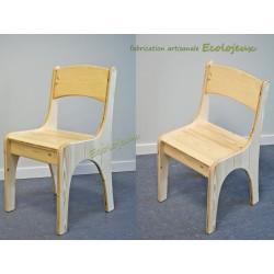 Chaise Enfant Bois artisanale Fabrication Ecolojeux