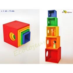 Cubes Gigognes en bois