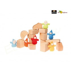Cubes - Blocs Waldorf Nature jeu de construction