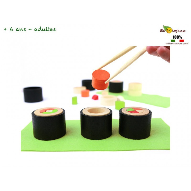 Jeu société cuisine sushi Jeu Milaniwwod  Makemaki Défi pour 2 Chefs Sushis
