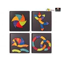 Grimm's Arc en ciel Jouet Bois Puzzle magnétique créatif Goethe 91080 Puzzle magnétique créatif Goethe