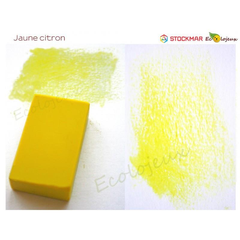 Stockmar bloc Cire à colorier Jaune Citron