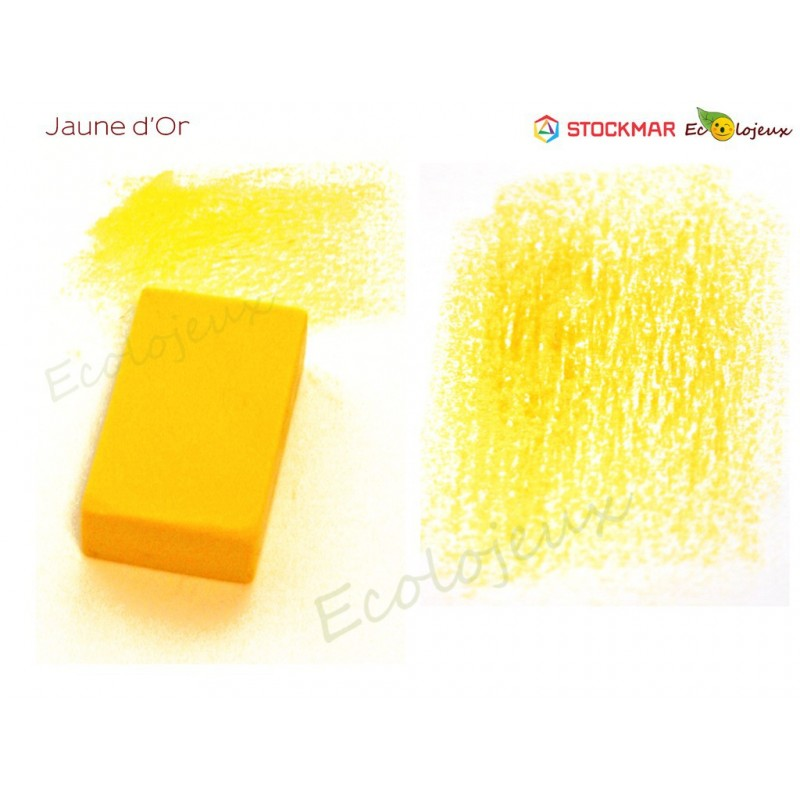 Stockmar bloc cire à colorier Jaune Or