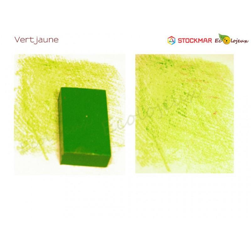 Stockmar bloc de cire à colorier Vert Jaune