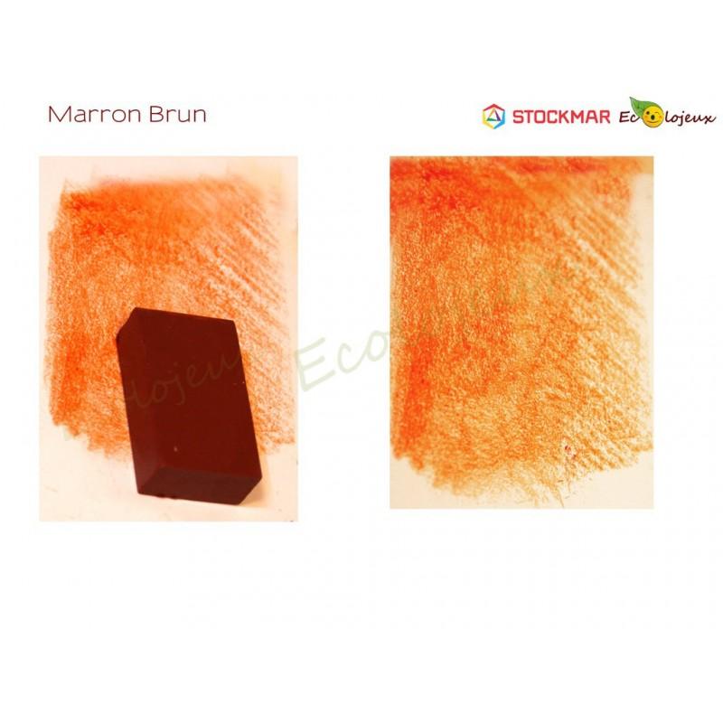 ECOLE WALDORF JARDIN ENFANT CIRE ABEILLE Stockmar bloc Cire à colorier Marron brun
