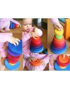 hochets en bois, jouets à manipuler